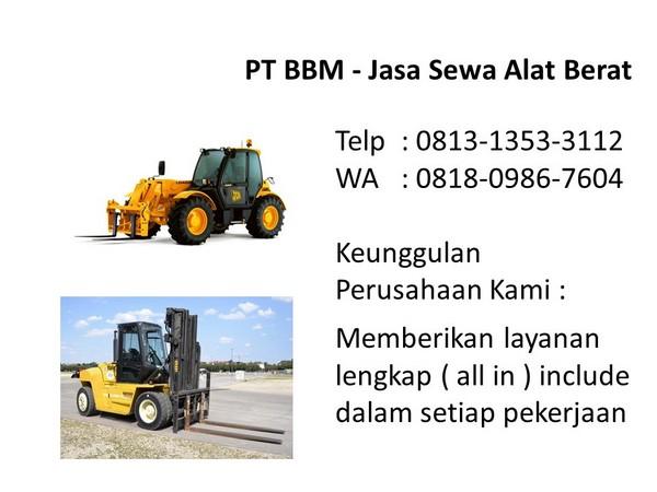 Harga Sewa Alat Berat Bandung Dan Jakarta Selatan Wa 0818 0986 7604